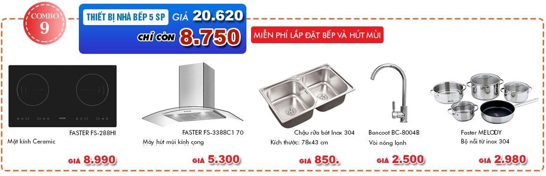 Combo bếp từ máy hút mùi giá rẻ cực sốc trong mùa hè nắng nóng