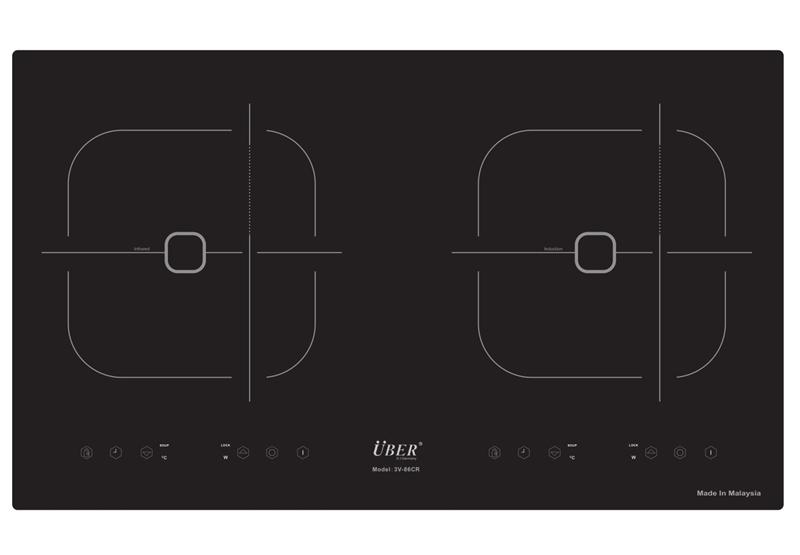 Bếp điện từ Uber 3V-86 CR mẫu mới 2016